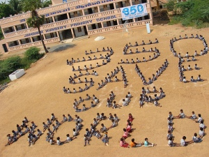 Photo: 350.org, Vilandai, India school children