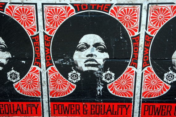 street poster of power for women